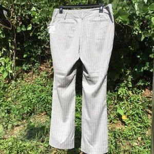 Mossimo Supply Co. Pants - Pinstripe Career Trouser Stretch Gray 14